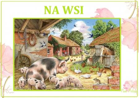 Zwierzęta na wsi- Źródło: PaniPelcia